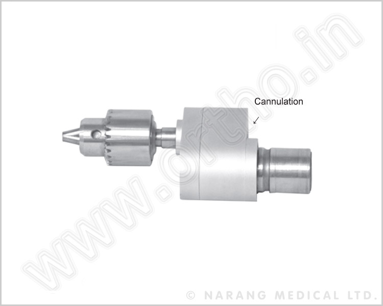 SPT2103 - Canulate Drill Attachment Quick chuck: Maximum for diameter of 8.00mm forward/reverse control. For Trauma Operation